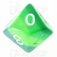 TDSO Layer Transparent Green D10 Dice