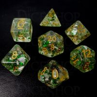 TDSO Metallic Flakes Emerald 7 Dice Polyset