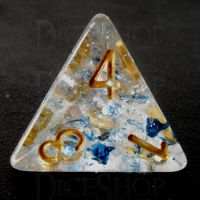 TDSO Metallic Flakes Sapphire D4 Dice