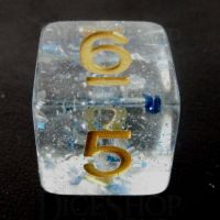TDSO Metallic Flakes Sapphire D6 Dice