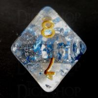 TDSO Metallic Flakes Sapphire D8 Dice