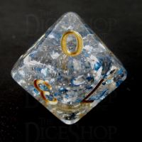 TDSO Metallic Flakes Sapphire D10 Dice