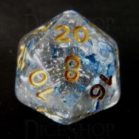 TDSO Metallic Flakes Sapphire D20 Dice