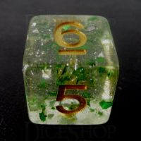 TDSO Metallic Flakes Emerald D6 Dice