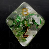 TDSO Metallic Flakes Emerald D8 Dice