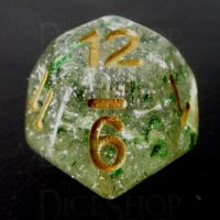 TDSO Metallic Flakes Emerald D12 Dice