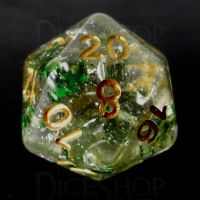 TDSO Metallic Flakes Emerald D20 Dice