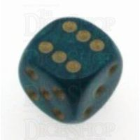 D&G Interferenz Green 15mm D6 Spot Dice