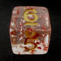 TDSO Metallic Flakes Ruby D6 Dice