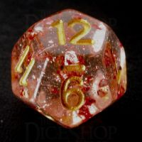 TDSO Metallic Flakes Ruby D12 Dice