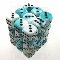 Chessex Gemini Teal & White 36 x D6 Dice Set
