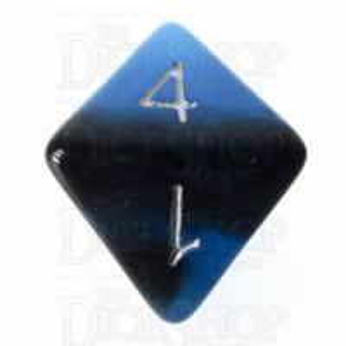 TDSO Duel Sapphire & Black Glow in the Dark D8 Dice