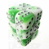 TDSO Duel Jade & White Glow in the Dark 12 x D6 Dice Set