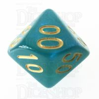 TDSO Moonstone Turquoise Percentile Dice