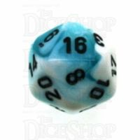 Chessex Gemini Teal & White D20 Dice