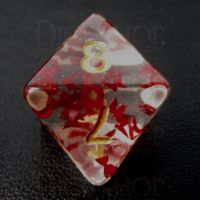 TDSO Confetti Butterfly Red & Gold D8 Dice
