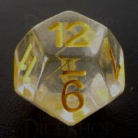 TDSO Encapsulated Flower Yellow D12 Dice