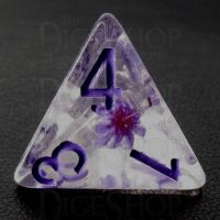 TDSO Encapsulated Flower Purple D4 Dice