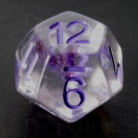 TDSO Encapsulated Flower Purple D12 Dice