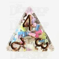 TDSO Sprinkles Multi With Gold D4 Dice