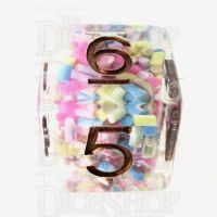 TDSO Sprinkles Multi With Gold D6 Dice