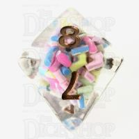 TDSO Sprinkles Multi With Gold D8 Dice
