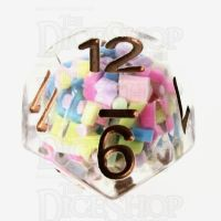 TDSO Sprinkles Multi With Gold D12 Dice