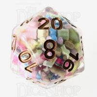 TDSO Sprinkles Multi With Gold D20 Dice