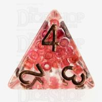 TDSO Sprinkles Beads Red D4 Dice