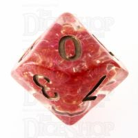 TDSO Sprinkles Beads Red D10 Dice