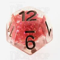 TDSO Sprinkles Beads Red D12 Dice