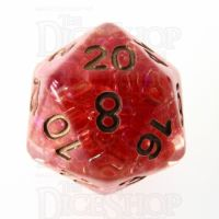 TDSO Sprinkles Beads Red D20 Dice