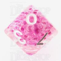 TDSO Sprinkles Beads Pink D10 Dice