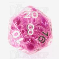 TDSO Sprinkles Beads Pink D20 Dice