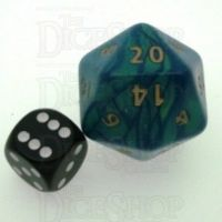 D&G Interferenz Green JUMBO 34mm D20 Dice