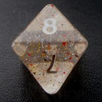 TDSO Metallic Flakes Small Stars D8 Dice
