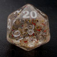 TDSO Metallic Flakes Small Stars D20 Dice