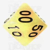 TDSO Duel Orange & Yellow Glow in the Dark Percentile Dice