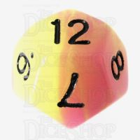 TDSO Duel Purple & Green Glow in the Dark D12 Dice