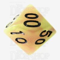 TDSO Duel Purple & Green Glow in the Dark Percentile Dice