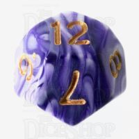 TDSO Marble Purple & White D12 Dice