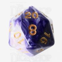 TDSO Marble Purple & White D20 Dice