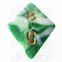 TDSO Marble Green & White D8 Dice