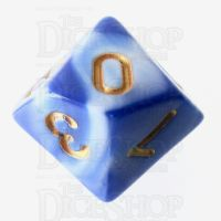 TDSO Marble Blue & White D10 Dice