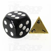 TDSO Metal Satin Gold MINI 10mm D4 Dice