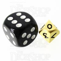 TDSO Metal Satin Gold MINI 10mm D10 Dice