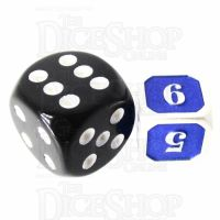 TDSO Metal Fire Forge Silver & Blue MINI 12mm D6 Dice