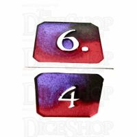 TDSO Metal Fire Forged Multi Colour Silver Black Purple & Red D6 Dice