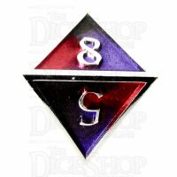 TDSO Metal Fire Forged Multi Colour Silver Black Purple & Red D8 Dice
