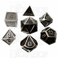 TDSO Metal Fire Forge Antique Nickel 7 Dice Polyset